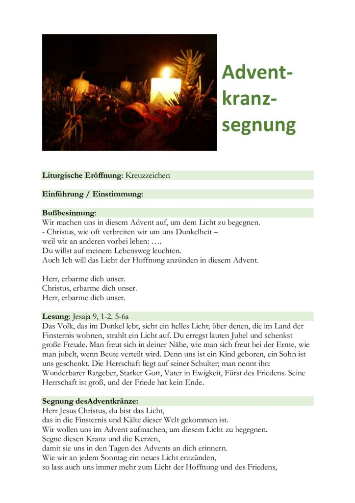 thumbnail of Adventkranzsegnung